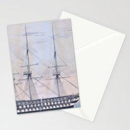 12,000pixel-500dpi - Nathaniel Currier - U. S. Ship North Carolina, 102 Guns - Digital Remastered Stationery Cards