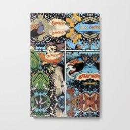 Oink Help Window Metal Print