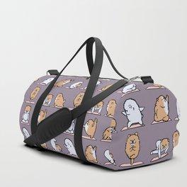 Pomeranian yoga Duffle Bag