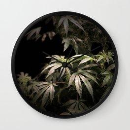 Shining in Black Wall Clock
