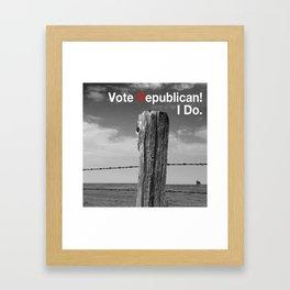 Vote Republican. 2 Framed Art Print