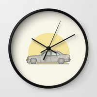 mercedes Wall Clocks featuring Mercedes-Benz 190E 2.5 Cosworth vector illustration by Underground Worm