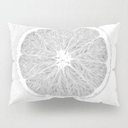 Black and White Orange Pillow Sham