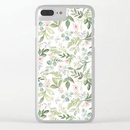 Buds & Blooms Botanicals Clear iPhone Case