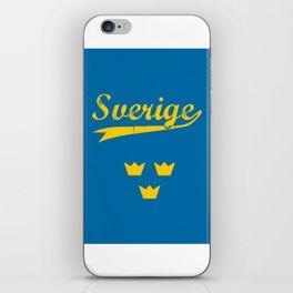 Sweden, Sverige, vintage poster iPhone Skin
