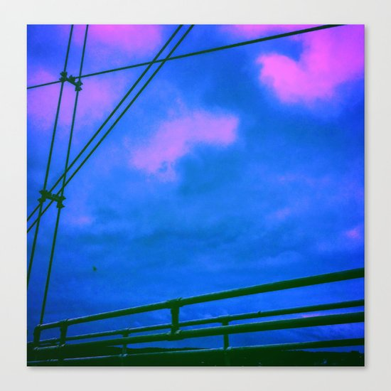 Cotton Candy Bridge Canvas Print