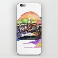 crown iPhone & iPod Skins featuring CROWN by Chejo Hernandez