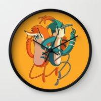 regular show Wall Clocks featuring Mordecai & Rigby // Regular Show by Daniel Mackey