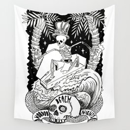 Beach goth Nights Wall Tapestry