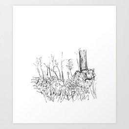 Fireside Flowers Art Print