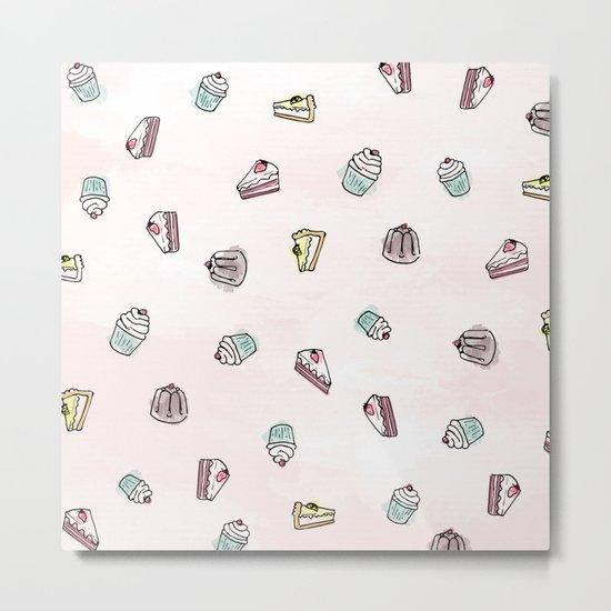 Desserts Rain Metal Print