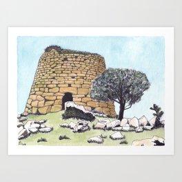 Nuraghe Tower in Sardinia Art Print