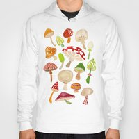 mushrooms Hoodies featuring Mushrooms by Cat Coquillette