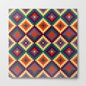 Aztec pattern - purple, red, blue, yellow by triballer