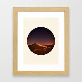 Desert Sunset & Stars In The Sky Framed Art Print