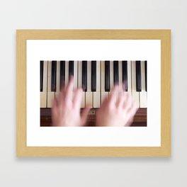 Musician play piano Framed Art Print