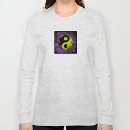 yin yang Ensō zen buddhism purple anise Long Sleeve T-shirt