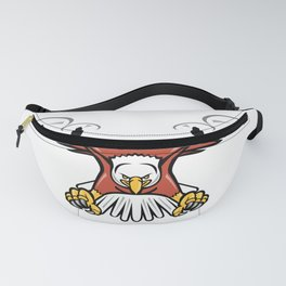Half Eagle Half Drone Swooping Mascot Fanny Pack