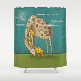 sleep well Shower Curtain