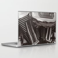 motorcycle Laptop & iPad Skins featuring Motorcycle by Jaci Wandell