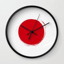 Japan's Flag Design Wall Clock