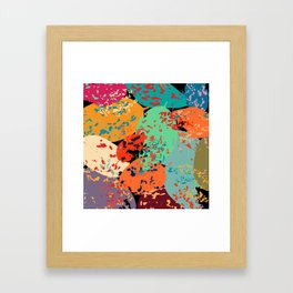 Sprinkled Leaves Framed Art Print