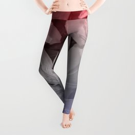 Red, White, and blue lily Leggings