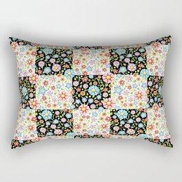 Millefiori Floral Patchwork Rectangular Pillow