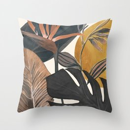 Abstract Tropical Art III Throw Pillow