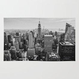 Black & White NYC Skyline Rug