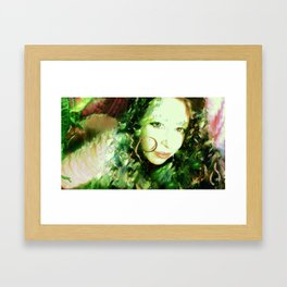 Fairy feather wood nymph ladykashmir painting , Art Print by ladykashmir Framed Art Print