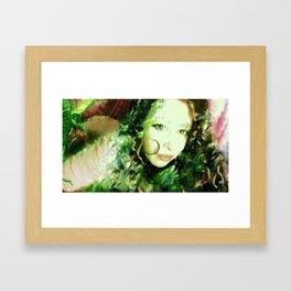 Fairy feather wood nymph ladykashmir painting , Art Print by ladykashmir Framed Art Print