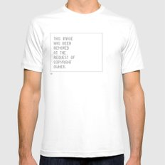© Control v1.2 White Mens Fitted Tee MEDIUM