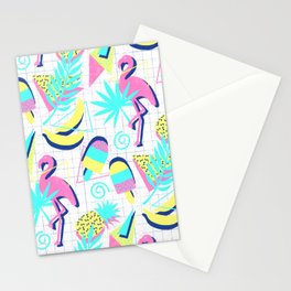 80s Flashback Tropical Fun Stationery Cards