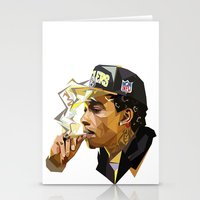 hip hop Stationery Cards featuring Hip-hop cubism by Katty Zyu
