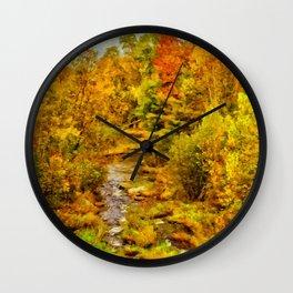 Autumn On The Ammonoosuc Wall Clock