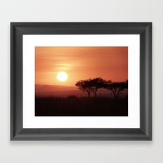 Sunrise in Maasai Mara Framed Art Print