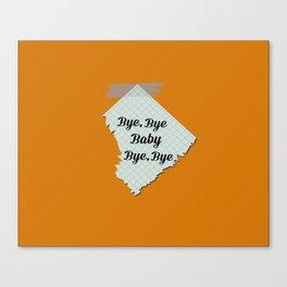 Bye Bye Baby Canvas Print