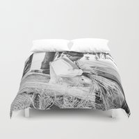 korean Duvet Covers featuring Korean Traditional Craftsman by Jennifer Stinson