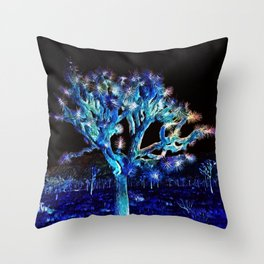 Joshua Tree VG Hues by CREYES Throw Pillow
