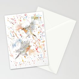 "Watercolor Painting of Picture ""Robins"" Stationery Cards"