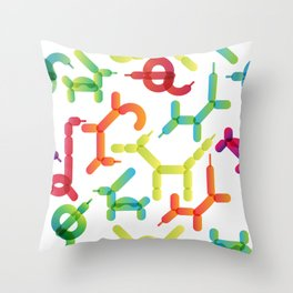 Balloon animals pattern #2 Throw Pillow