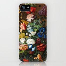 Flower Still Life with Bird's Nest, 1853 iPhone Case