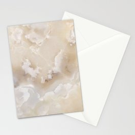 White Onyx Watercolor Texture Stationery Cards