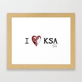 I 'heart' KSA Framed Art Print