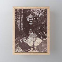 Degradation Trip I (graffiti sexy female picture) Framed Mini Art Print