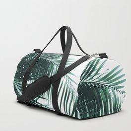 Palm Leaves Green Vibes #8 #tropical #decor #art #society6 Duffle Bag