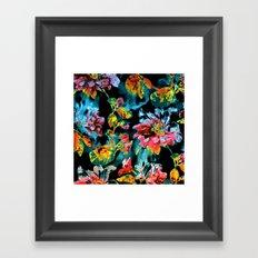 double floral Framed Art Print