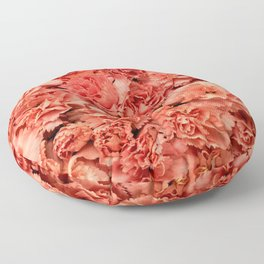 Coral Carnations Floor Pillow
