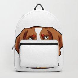 Brittany Dog Puppy Doggie Present Cartoon Backpack